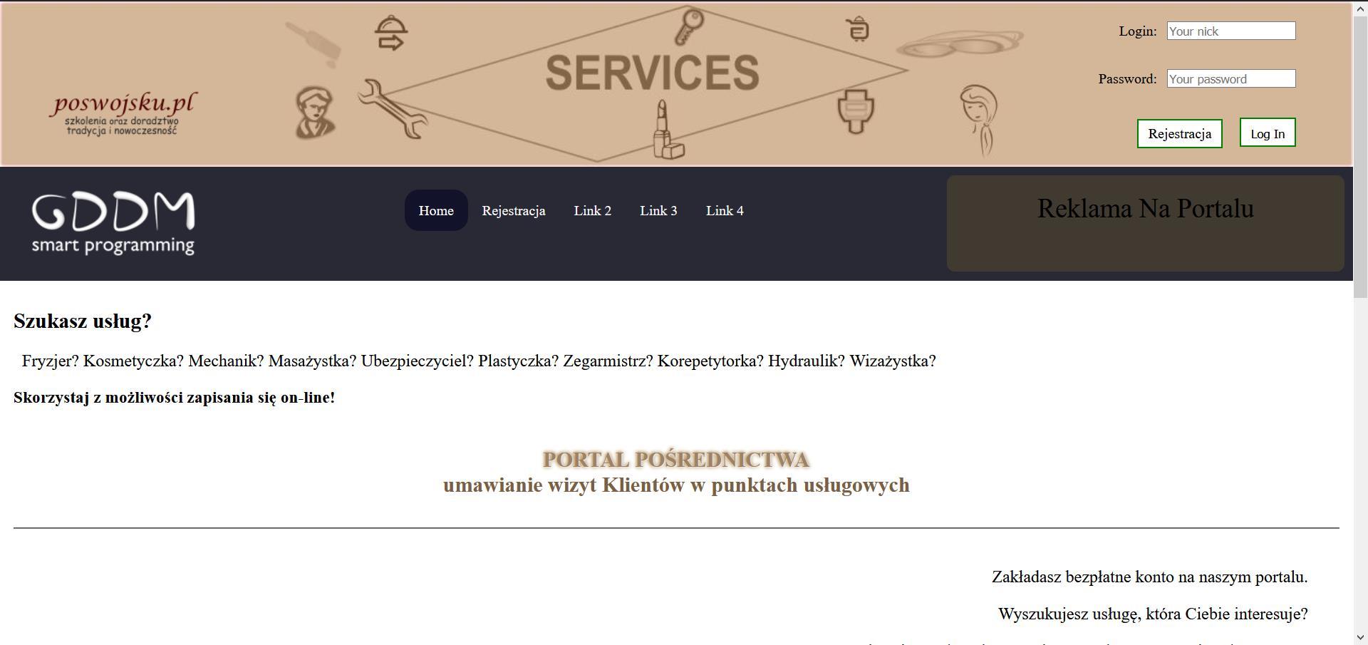 Portal pośrednictwa: umawianie wizyt Klientów w punktach usługowych